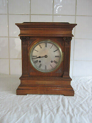 Fine Quality Oak Ting- Tang Chiming Clock- Circa 1900