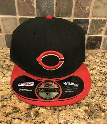 CINCINNATI REDS MLB Dabu Dogear Ear Flap New Era Brown Fitted ... e6a4e2648a4b
