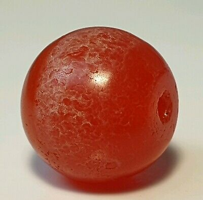 Ancient Rare Indo-Tibetan Agate Patinized Carnelian Bead