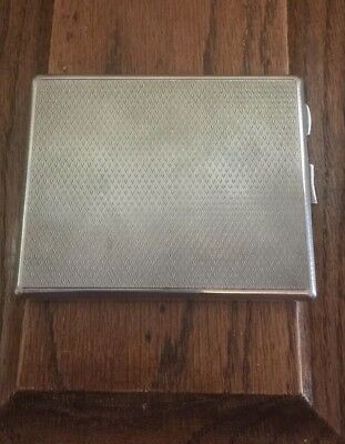 Beautiful Antique Heavy Solid Silver Card Orcigarette Case 1932.