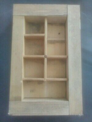Vintage Printers Type Tray Shadow Box Letter Press Drawer display case curiosity