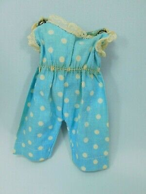 1956 Madame Alexander-kins Dotted Blue Cotton Playsuit / PJs, Tagged, Documented