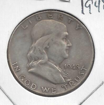 1948 P Franklin half dollar Avg Circulated U.S. 90% silver coin