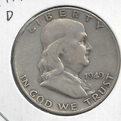 1949 D Franklin half dollar Nice Circulated U.S. 90% silver coin