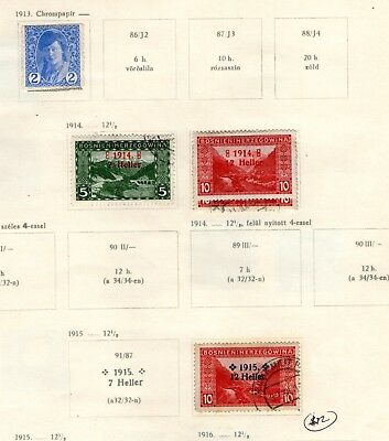 Early Bosnian Stamps/hinged On Paper