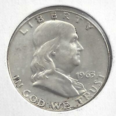 1963 D Franklin half dollar Nice Circulated U.S. 90% silver coin