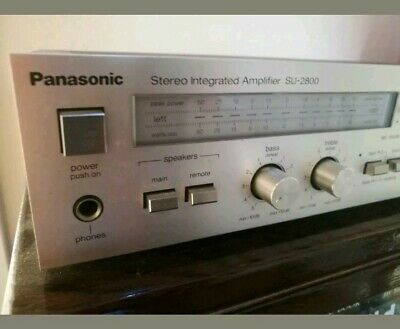 PANASONIC integrated amplifier with phono output 4 speakers din rca retro