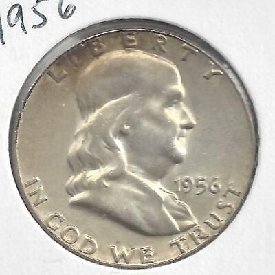 1956 P Franklin half dollar Nice Circulated U.S. 90% silver coin SEMI KEY DATE