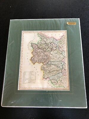 19th century engraving map of Lancashire   Lewis Topographical Dictionary