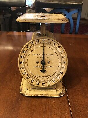 Vintage 24 Pound Scale,Columbia Family Scale