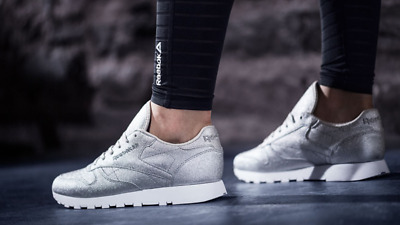 07015cbe4d4 REEBOK CLASSIC LEATHER Silver Women Size 8.5 New With Box ! -  69.99 ...