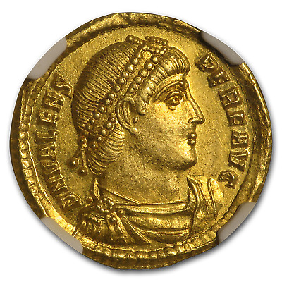 Eastern Rome Gold Solidus Emperor Valens (364-78 AD) AU NGC - SKU#186560