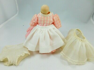 1958 Madame Alexander Wendy Kins Edith the Lonely Doll #850 Pink Dress, Apron +