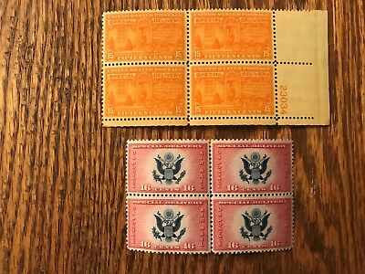 US - MNH - CE-2,E-16,E-22(2 Qty),E-23-Special Delivery stamps are Plate Blocks