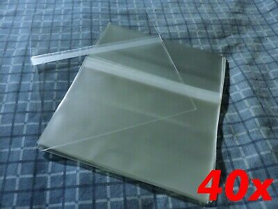 40x CD Standard Jewel Case Resealable Protective Plastic Bags Sleeve Sleeves OPP