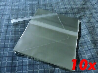 10x CD Standard Jewel Case Resealable Protective Plastic Bags Sleeve Sleeves OPP