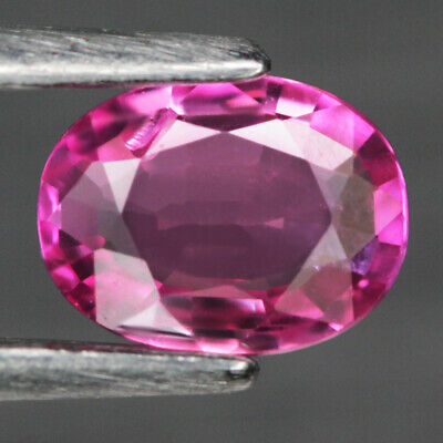 0.58 Ct. Unheated Oval Facet Natural Ruby Redish Pink Mozambique Elegent