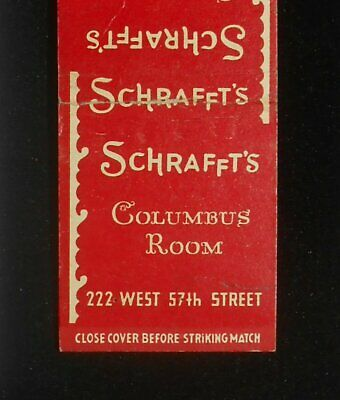 1940s Schrafft's Columbus Room Cocktail Bar Lounge 222 West 57th Street NYC NY
