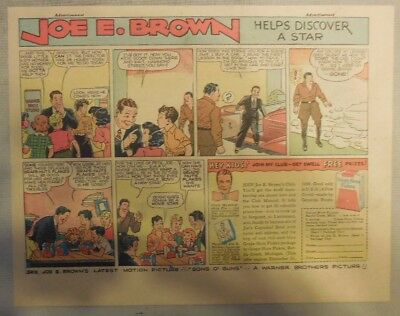 Joe E. Brown Post Grape-Nuts Flakes Cereal Ad from 1930's 7 x 10 Inches