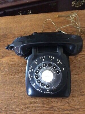 Vintage Black Rotary Phone - Automatic Electric Co. - 1965
