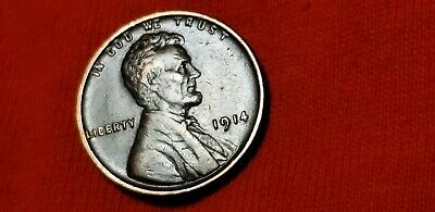 1914 Lincoln Wheat Cent Penny 1c XF+/AU