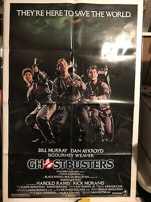 Ghostbusters 1984 Origional Us One Sheet Movie Poster 27x41 Folded