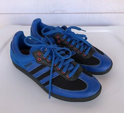 new styles d6dd2 05a8f Rare! Adidas Parker Blue Black Red 3 Stripe Samoa Shoes Miad Mens 7  Athletic