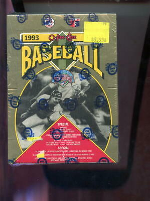 1993 O-Pee-Chee OPeeChee OPC World Champions Baseball Card Set Wax Pack Box