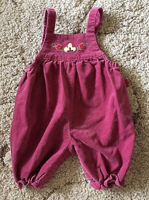 Vintage Baby Girl Velour 80s/90s Jumper Romper One Piece Playsuit Sz 0-3 Months