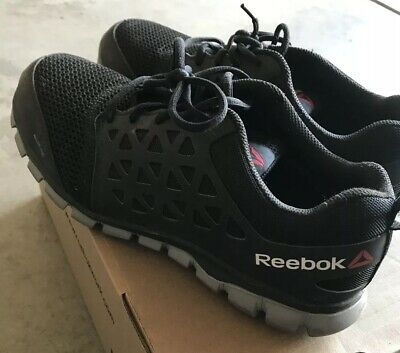 b7b945f40b8 Reebok Men s Sublite Cushion Work Alloy Safety Toe Shoe Style RB4041 Size  10.5
