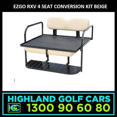 4 Seat Conversion Kit to Suit EZGO RXV Golf Cart Beige