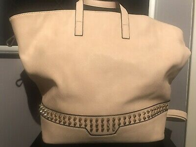 2227a7c6718c LA TERRE FASHION Ivory Vegan Leather Handbag with Shoulder Straps NEW W/TAGS