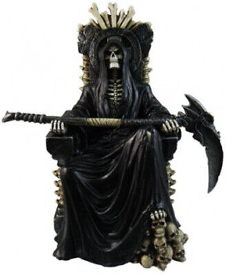 RULER of the UNDERWORLD  Reaper on Throne   Statue Figurine   H10.5''