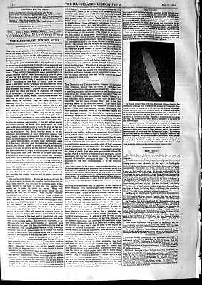 Original Old Antique Print 1853 Comet Klinkerfues Observatory Astronomy 19th
