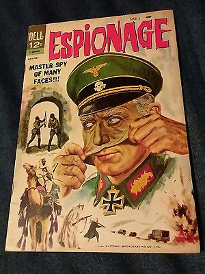 Espionage 1 photo cover Dell Comics master spy of many faces movie war silver ag