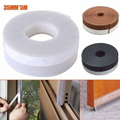 5M 35mm Weather Stripping Sliding Door Seal Strip Windproof Silicone Sticky Tape