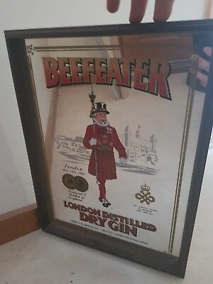 Beefeater Gin Mirror Sign Vintage