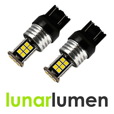 2 x Lunar Lumen W21 T20 20W LED CANBUS 580 7440 DRL Super White Bulbs