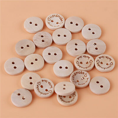 Prettyia 200pcs Wood Sewing Buttons Rainbow 2-hole Button for Garment Decor