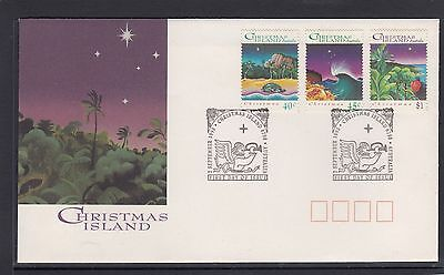CHRISTMAS ISLAND  1993 CHRISTMAS set on FDC -