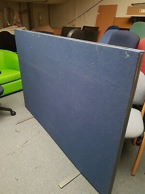 Blue fabric office room dividers / Blue fabric office room partitions