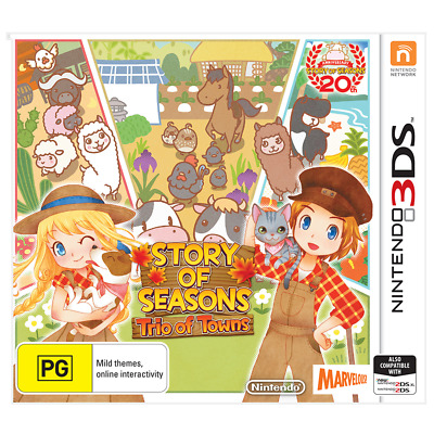 Story of Seasons Trio of Towns Nintendo 3DS 2DS New Sealed