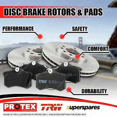 Protex Rear Brake Rotors + Pads for Honda CR-V RM 2.2L Turbo Diesel 4WD 2014-on