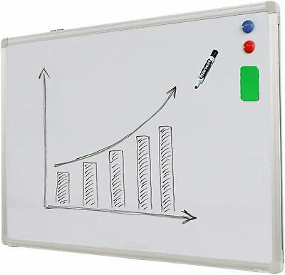 2 Way Wall-Mounted Magnetic Whiteboard 120X90 cm with free gift