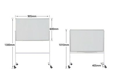 Double Side Whiteboard 90 x 60 cm Office Magnetic Marker with stand FREE GIFTS