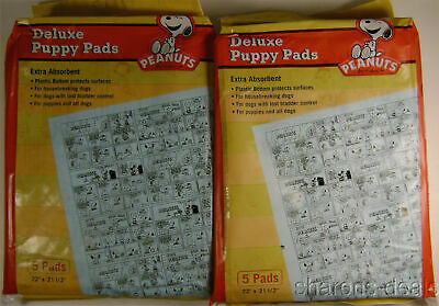 Peanuts Snoopy Deluxe Puppy Pads Lot 24 Packs Waterproof Training 120 Absorbent