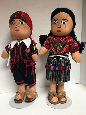 Vintage Guatemalan Handmade Worry Dolls By Widows Of Guerrilla Raids NMT