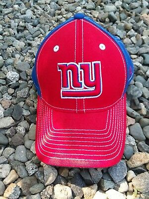 Reebok NEW YORK GIANTS One Size Fitted Blue NFL Dad Hat Baseball Cap Red  Blue 6ab0b8cbc68b