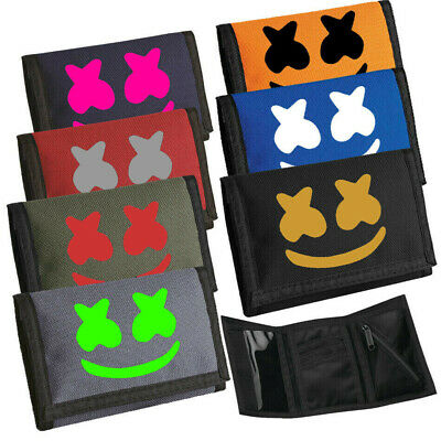 DJ Marshmello Face Mask Girls Boys Money Coin Note Wallet bag Gift Birthday.New.