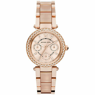 Michael Kors MK6110 Parker PVD Rose Gold Chronograph Women's Watch